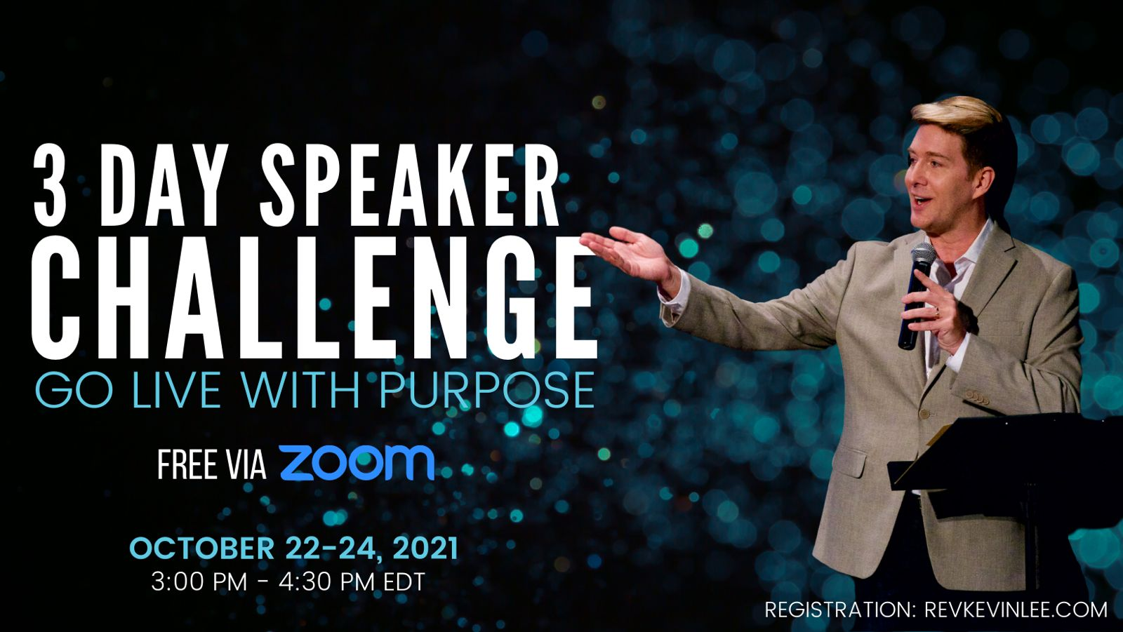go live with purpose speaker challenge by kevin lee